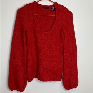 Moda International   Red Acrylic Fitted Sweater